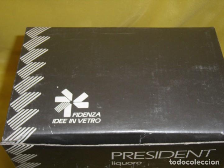 Antigüedades: Copas cristal licor President, filo oro, 6 unid.Italianas de Fidenza idee in Vetro ,años 70,Nuevas - Foto 10 - 162781902