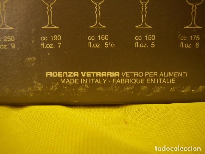 Antigüedades: Copas cristal licor President, filo oro, 6 unid.Italianas de Fidenza idee in Vetro ,años 70,Nuevas - Foto 14 - 162781902