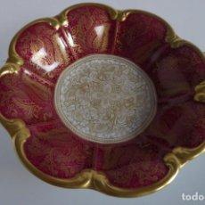 Antigüedades: PRECIOSO Y DELICADO CENTRO DE PORCELANA ALEMANA ALT CON PIE. Lote 162804446