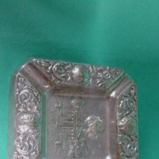 Antigüedades: CENICERO ALPACA PLATEADA MEDIDAS 12X12 CM. SELLO DEL FABRICANTE.. Lote 162892930