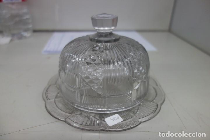QUESERA DE CRISTAL DE SANTA LUCIA DEL SIGLO XIX (Antigüedades - Cristal y Vidrio - Santa Lucía de Cartagena)