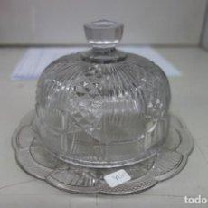 Antigüedades: QUESERA DE CRISTAL DE SANTA LUCIA DEL SIGLO XIX. Lote 162901290