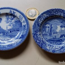 Antigüedades: 2 (DOS) SPODE THE BLUE ROOM COLLECTION ROME E ITALIAN PLATE. Lote 162904494