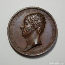 Antigüedades: MEDALLA DE BRONCE DE FRANCIA DEL AÑO 1826.J.F. LE SUEUR.EXTRAORDINARIO ESTADO.. Lote 162912338