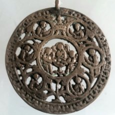 Antigüedades: MEDALLON BIZANTINO TRIADA ANGÉLICA. SIGLO VIII.. Lote 162929944