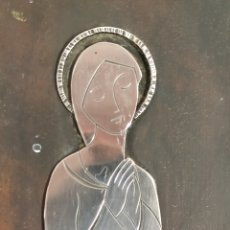 Antigüedades: VIRGEN PLATEADA. Lote 162936892
