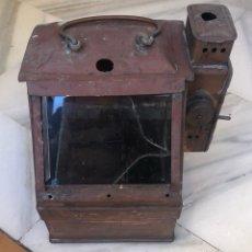 Antigüedades: ANTIGUO FAROL DE CARBURO, SIGLO XIX. Lote 162937565