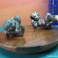 Antigüedades: ANTIGUOS ÁNGELES REALIZADOS POR MATH MOREAU. Lote 162938818