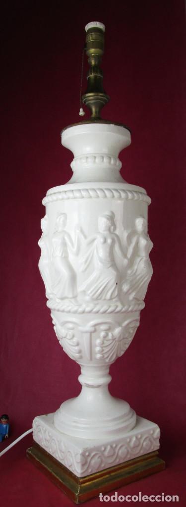 Antigüedades: ENORME LAMPARA 88CM LAMPARA BONDIA MANISES CERAMICA ESTILO CLASICO - Foto 2 - 162958114