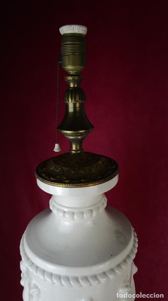 Antigüedades: ENORME LAMPARA 88CM LAMPARA BONDIA MANISES CERAMICA ESTILO CLASICO - Foto 4 - 162958114