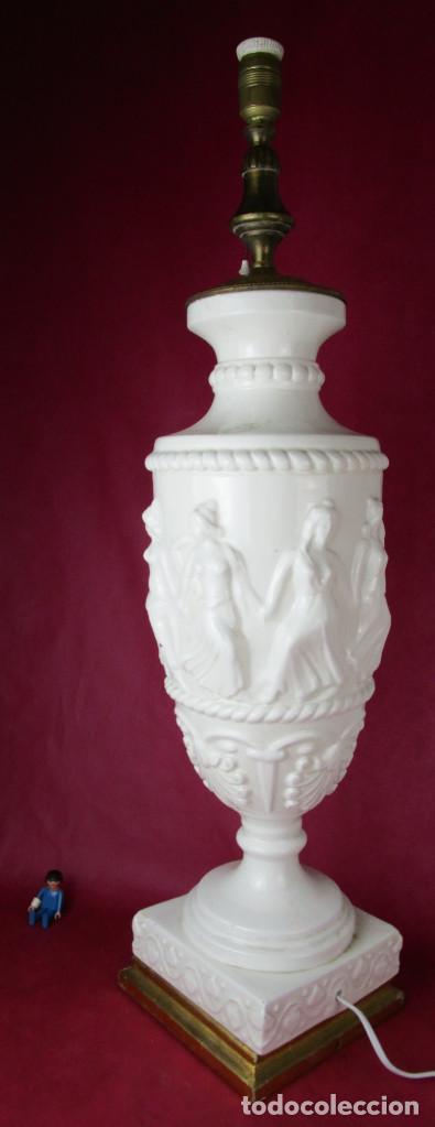 Antigüedades: ENORME LAMPARA 88CM LAMPARA BONDIA MANISES CERAMICA ESTILO CLASICO - Foto 5 - 162958114