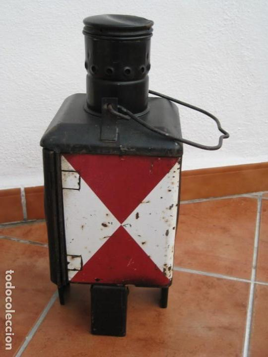Antigüedades: Antiguo farol de Ferrocarril Alemán. 46cm - Foto 8 - 162965102
