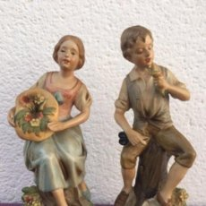 Antigüedades: 2 FIGURAS DE CERÁMICA. Lote 162986262