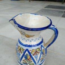 Antigüedades: BONITA JARRA TALAVERA PINTADA A MANO --- LA PILARICA J. A. ---. Lote 163020770