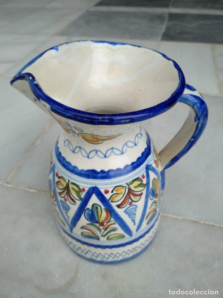 Antigüedades: Bonita jarra Talavera pintada a mano --- La Pilarica J. A. --- - Foto 2 - 163020770