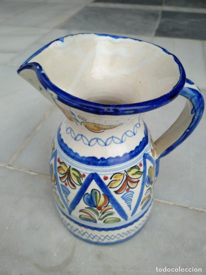 Antigüedades: Bonita jarra Talavera pintada a mano --- La Pilarica J. A. --- - Foto 3 - 163020770