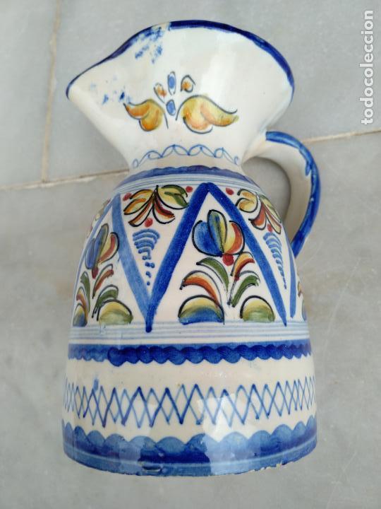 Antigüedades: Bonita jarra Talavera pintada a mano --- La Pilarica J. A. --- - Foto 4 - 163020770