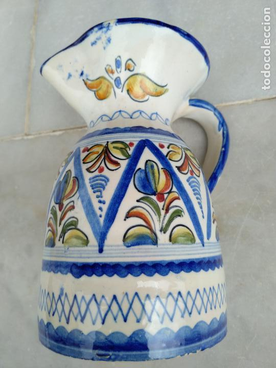 Antigüedades: Bonita jarra Talavera pintada a mano --- La Pilarica J. A. --- - Foto 5 - 163020770