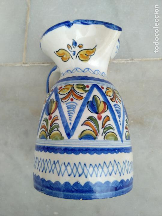 Antigüedades: Bonita jarra Talavera pintada a mano --- La Pilarica J. A. --- - Foto 6 - 163020770