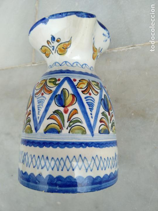 Antigüedades: Bonita jarra Talavera pintada a mano --- La Pilarica J. A. --- - Foto 7 - 163020770