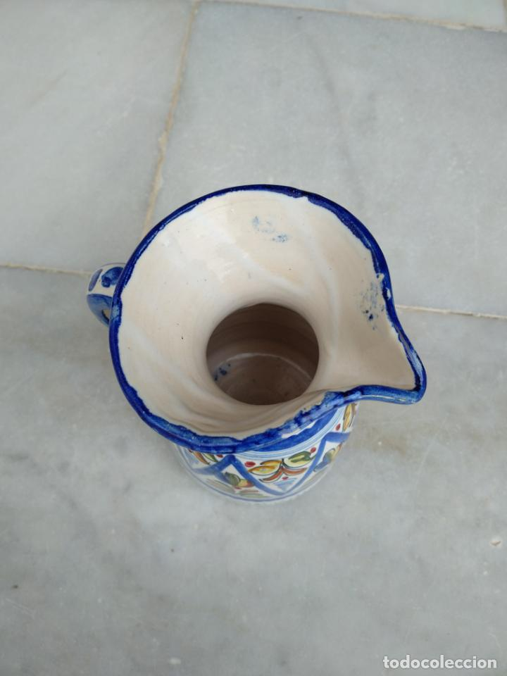 Antigüedades: Bonita jarra Talavera pintada a mano --- La Pilarica J. A. --- - Foto 9 - 163020770