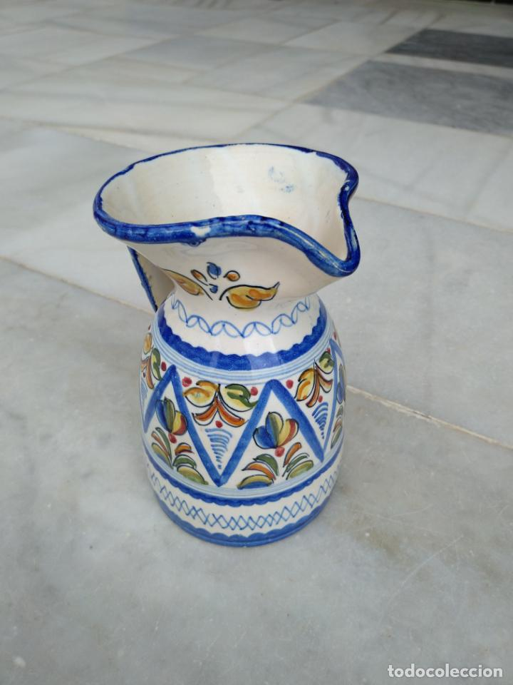 Antigüedades: Bonita jarra Talavera pintada a mano --- La Pilarica J. A. --- - Foto 10 - 163020770