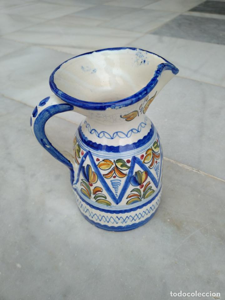 Antigüedades: Bonita jarra Talavera pintada a mano --- La Pilarica J. A. --- - Foto 11 - 163020770