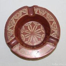 Antigüedades: CENICERO EN CERÁMICA DE REFLEJO METÁLICO MANISES DE VICENTE GIMENO - MEDIADOS DEL SIGLO XX. Lote 163037482