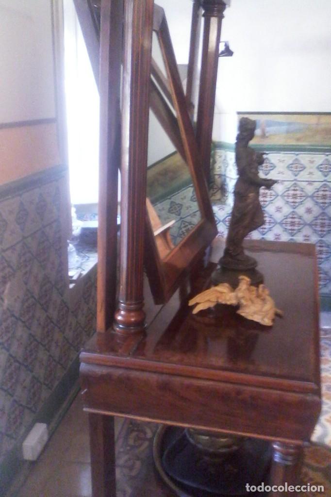 CONSOLA IMPERIO - S. XIX . (Antigüedades - Muebles Antiguos - Consolas Antiguas)