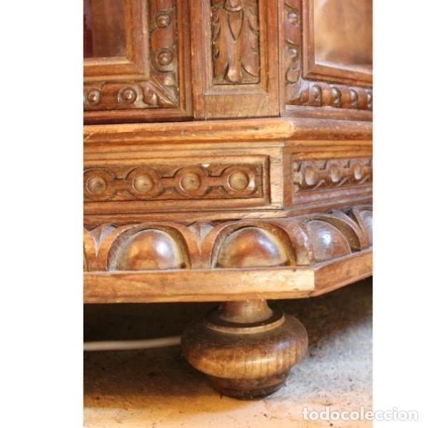 Antigüedades: Antigua vitrina de madera de cedro - Foto 5 - 163079846
