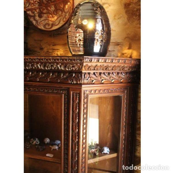 Antigüedades: Antigua vitrina de madera de cedro - Foto 6 - 163079846