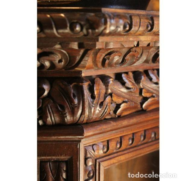 Antigüedades: Antigua vitrina de madera de cedro - Foto 7 - 163079846