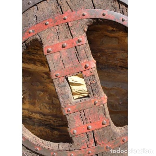 Antigüedades: Antigua rueda de carro - Foto 8 - 163080294