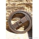 Antigüedades: RUEDA DE CARRO SIGO XIX. Lote 163081870