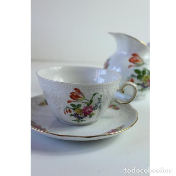 Antigüedades: Antiguo juego de porcelana - Foto 3 - 163082746