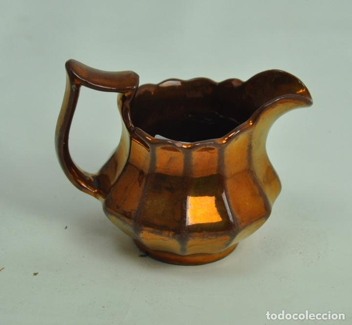 Antigüedades: Jarra Bristol pequeña dorada - Foto 3 - 163085894