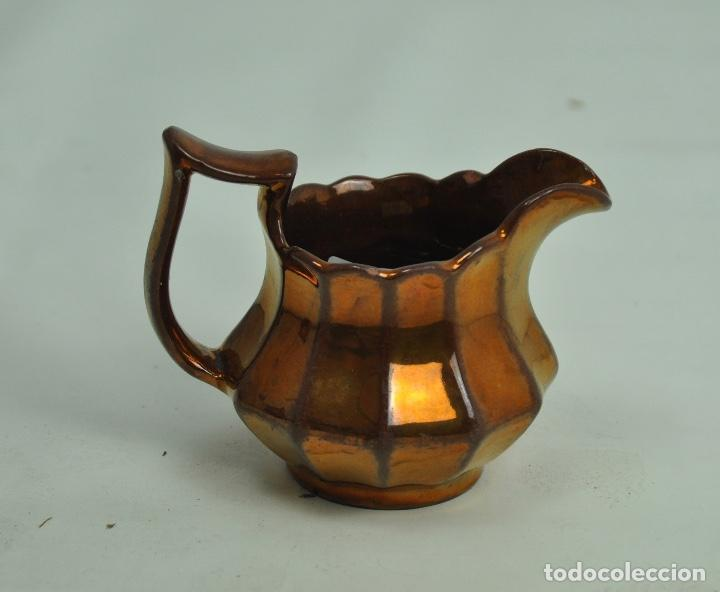Antigüedades: Jarra Bristol pequeña dorada - Foto 4 - 163085894