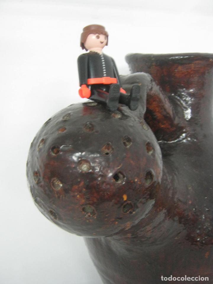 Antigüedades: 5 kg - Espectacular grande raro - cantaro ceramica balear regadera s.XIX - Foto 2 - 163116442