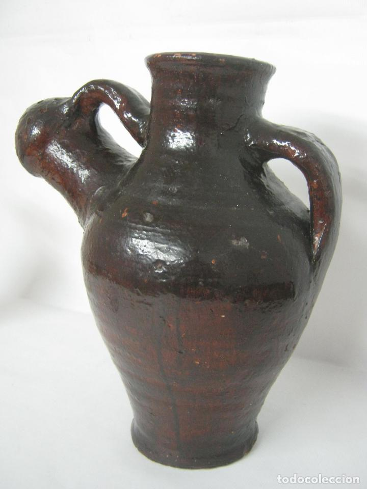 Antigüedades: 5 kg - Espectacular grande raro - cantaro ceramica balear regadera s.XIX - Foto 7 - 163116442