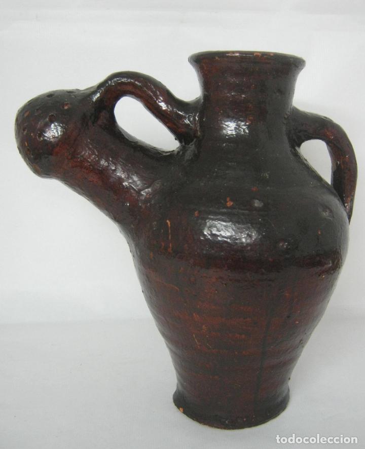Antigüedades: 5 kg - Espectacular grande raro - cantaro ceramica balear regadera s.XIX - Foto 8 - 163116442