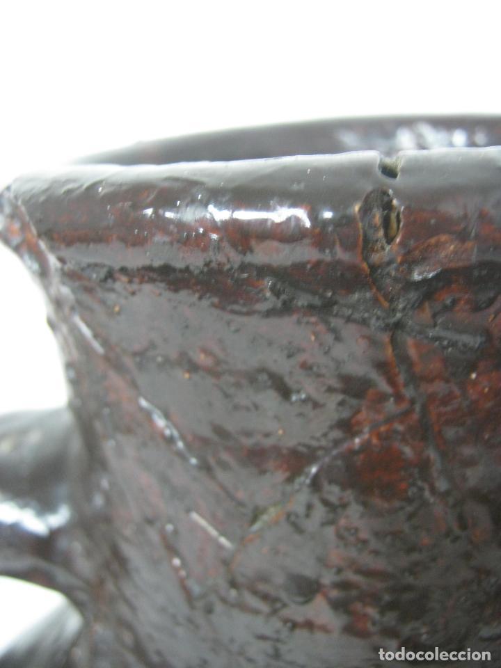 Antigüedades: 5 kg - Espectacular grande raro - cantaro ceramica balear regadera s.XIX - Foto 12 - 163116442