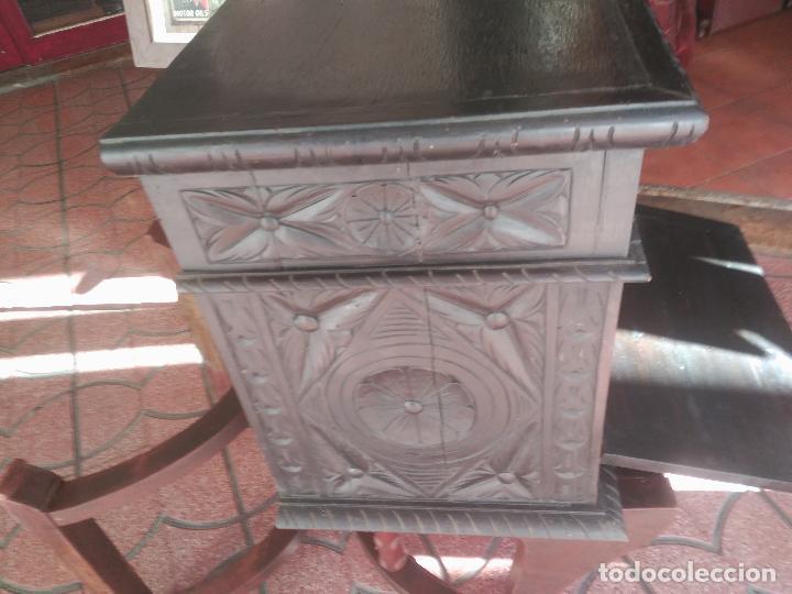 Antigüedades: ANTIGUO BARGUEÑO TALLAS MAGNIFICAS OBRA DE ARTE CAJONES Y LLAVE SGLO XVIII - Foto 15 - 52948120