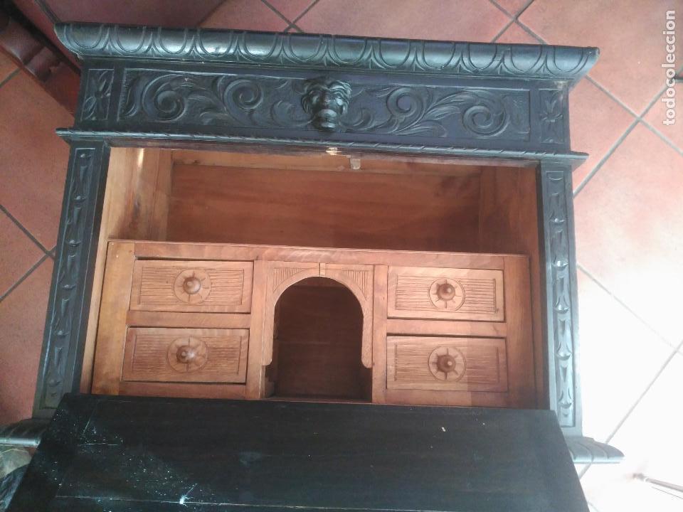 Antigüedades: ANTIGUO BARGUEÑO TALLAS MAGNIFICAS OBRA DE ARTE CAJONES Y LLAVE SGLO XVIII - Foto 20 - 52948120