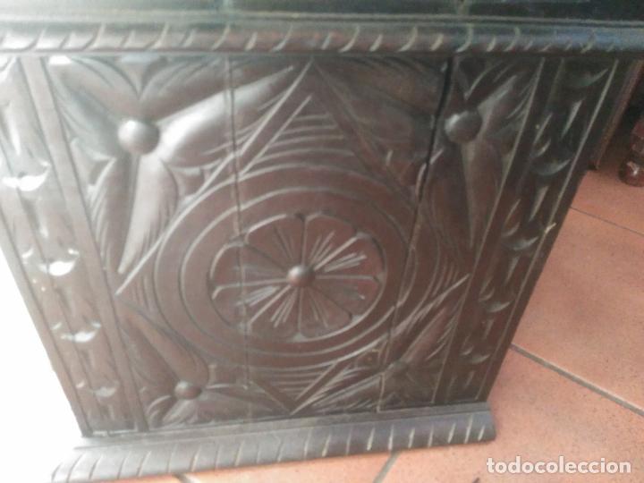 Antigüedades: ANTIGUO BARGUEÑO TALLAS MAGNIFICAS OBRA DE ARTE CAJONES Y LLAVE SGLO XVIII - Foto 28 - 52948120