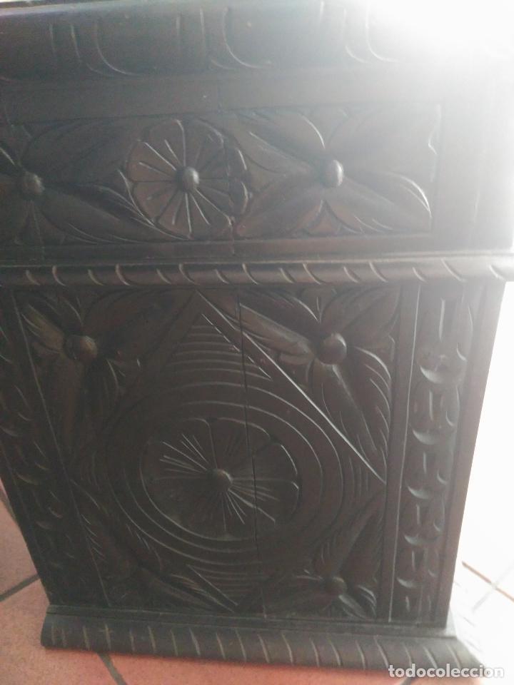Antigüedades: ANTIGUO BARGUEÑO TALLAS MAGNIFICAS OBRA DE ARTE CAJONES Y LLAVE SGLO XVIII - Foto 29 - 52948120