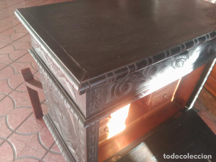 Antigüedades: ANTIGUO BARGUEÑO TALLAS MAGNIFICAS OBRA DE ARTE CAJONES Y LLAVE SGLO XVIII - Foto 31 - 52948120
