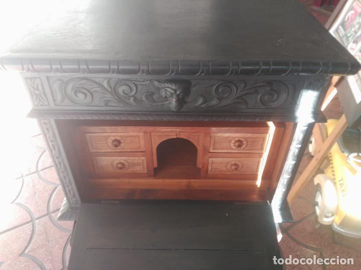 Antigüedades: ANTIGUO BARGUEÑO TALLAS MAGNIFICAS OBRA DE ARTE CAJONES Y LLAVE SGLO XVIII - Foto 32 - 52948120