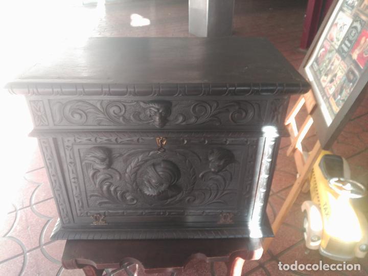 Antigüedades: ANTIGUO BARGUEÑO TALLAS MAGNIFICAS OBRA DE ARTE CAJONES Y LLAVE SGLO XVIII - Foto 33 - 52948120