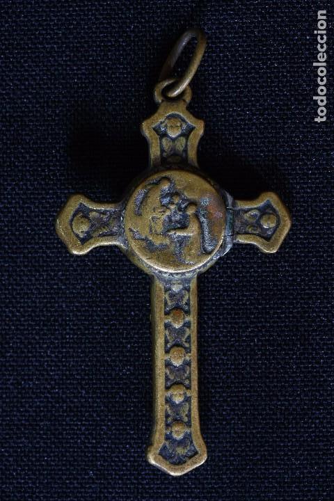 Antigüedades: CRUZ CON RELIQUIA SAN ANTONIO CLARET - Foto 2 - 163130826