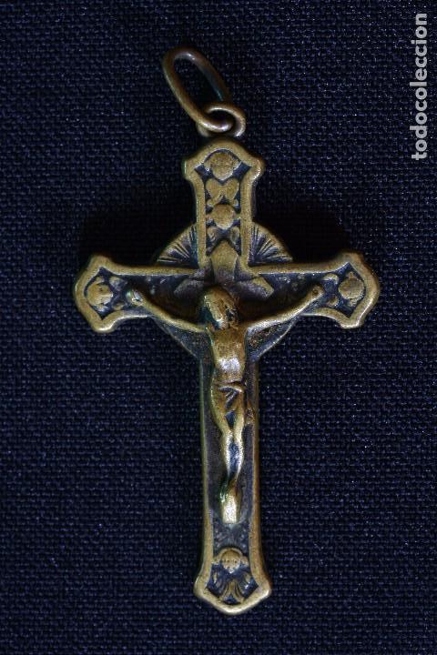 CRUZ CON RELIQUIA SAN ANTONIO CLARET (Antigüedades - Religiosas - Cruces Antiguas)